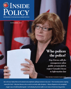 Inside Policy Novermber 2013 Cover
