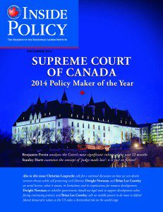 "December edition of Inside Policy names the Supreme Court ""Policy-Maker of the Year"" for 2014"