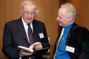 Brian Lee Crowley with former finance minister Paul Martin at the Montreal launch of the Canadian Century
